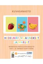 A6 Kuvasanasto - Hedelmät, vihannekset ja marjat